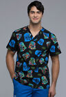 Darth Vader Cherokee Scrubs Tooniforms Star Wars V Neck Top TF676 SROH $26.49 USD