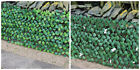 Garden Screening Trellis Expanding Wooden Fence with Artificial Plant Leaves
