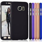 For Galaxy S7 Full Body Slim Skin Case Cover + Tempered Glass Screen Protector