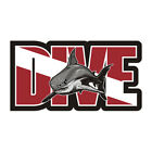Dive Shark Decal Diver Flag Water Search Rescue Diving Gloss Sticker HVG