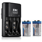EBL 280mAh 9V NI-MH Rechargeable Batteries + 9-Volt Charger for NiMH Li-ion