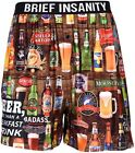 Men's Boxer Shorts Brief Insanity Bourbon Moonshine Beer Boxers Cocktails <br/> Underwear Assorted Drink Styles Polyester Boxer Shorts