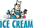 Ice Cream DECAL (Choose Your Size) Man Concession Food Truck Sign Sticker