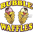Bubble Waffles DECAL (Choose Your Size) Food Truck Sticker Concession