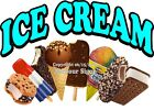 Choose Your Size Ice Cream DECAL Food Truck Concession Vinyl Sticker