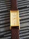 CITIZEN QUARTZ - LADIES 70S WAATCH - WITH BROWN LEATHER STRAP - GOLD PLATED