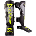 Ring Horns Charger Shin Guards - Black & Yellow