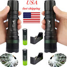 Ultra 15000LM T6 LED Zoomable Flashight Focus Torch Lamp+18650Battery+Charger#