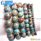 """Handmade Blue Crazy Lace Agate Beaded Stretchy Bracelet Gift Free Shipping 7"""""""