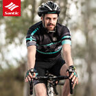 Santic Men Cycling Jersey Short Sleeve Summer Riding Suits Quick-drying Sleeve