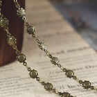 1 Meter of Silver or Antiqued Bronze Sunflower Link Handmade Chain