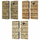 HEAD CASE DESIGNS MUSIC SHEETS LEATHER BOOK WALLET CASE FOR SAMSUNG PHONES 2