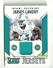 Jarvis Landry 2015 Score Maimi Dolphins Player Worn Material Card  Card # J-JL