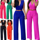 Women Jumpsuit Romper Sleeveless Playsuit Clubwear Trousers