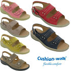 Cushion-Walk Slingback Summer Sandals Twin Strap Open Toe Comfort Ladies UK 3-8
