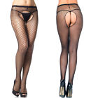 Women's Sexy Black See-through Fishnet Pantyhose High Waist Clubwear Stockings