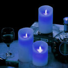 3 Flameless Wax LED Flickering Candles Dancing Battery Mood Lights