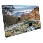 Ashness Bridge & snow capped Skiddaw The Lake District Ready to Hang X1206