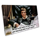 Quote American gangster Tony Montana Scarface Ready to Hang Canvas X1608