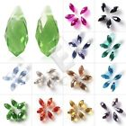 20pcs Crystal Beads Teardrop Top Drilled Loose Spacer Craft Jewelry Makings YB