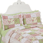 Country Bloom All Over Floral Patchwork-Style Quilted Pillow Sham image