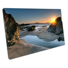 Sunset on Lusty Glaze beach Newquay Cornwall seascape Ready to Hang Canvas X1307