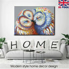 Framed/Unframed Modern Kissed Owl Couple CanvasPainting  Picture Wall Home Decor