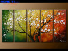 Large Framed Abstract Flower Oil Painting Art Wall Modern Decor on Canvas FY3673