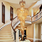 Modern fashion K9 Clear Crystal Chandelier Villa Stairs Lighting Fixture #91034