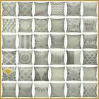 "16x16"" Gray Linen Vintage Decorative Throw Pillow Cover Grey Sofa Cushion Case"