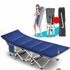 Outdoor Portable Military Folding Bed Cot Sleeping Camping Hiking Guest Bed Mat