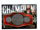 WWE Gallows & Anderson 2018 Topps Silver Tag Team Belt Plate Relic Card SN 18/25