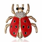 Retro Crystal Gold Plated Insect Beatle Brooch Pin Women Home Party Jewelry Gift