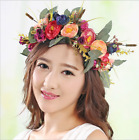 Four Kinds Flower Headband Floral Hair band Garland Wedding Party Garland