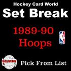 (HCW) 1989-90 Hoops NBA Basketball Cards Mint Set Break 1-150 - You Pick