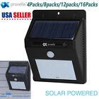 4/8/12/16x Wireless 8 LED Solar Power Motion Sensor Garden Lamp Waterproof Light