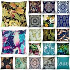 Bohemian Velvet Throw PILLOW COVER Sofa Couch Bed Decorative Cushion Case 18x18""