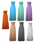 Elegant Formal Long Dress Bridesmaid Wedding Party Prom Evening Gown  0 - 20