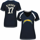Philip Rivers Los Angeles Chargers Majestic Women's Determined To Win V-Neck $34.99 USD on eBay