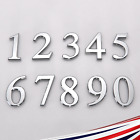 3D Door House Numbers Self Adhesive Chrome Times Roman Style 50mm 70mm 90mm