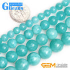 6-12mm Round Blue Jade Amazonite Color Gemstone Beads for Jewelry Making 15''