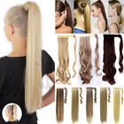 Lady Thick Wrap Around Clip In 100% Real Natural Hair Extensions Pony Tail Fnk