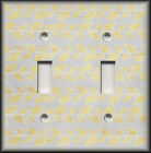 Metal Light Switch Plate Cover Silver And Gold Leaves Home Decor Nature Decor