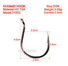 20PCS 1/0-6/0# fishhook Strong High-carbon steel Jig Hooks Saltwater Bass G25