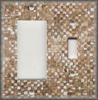 Metal Light Switch Plate Cover Brown Abstract Art Home Decor Brown Design Art