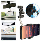 360° Car Rear View Mirror Mount Holder Stand Cradle For Cell Phone GPS Universal