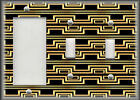 Metal Light Switch Plate Cover Art Deco Home Decor Black And Gold Art Decor 01