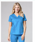 Maevn Medical Scrub Set Pants 9602T/Top1302 Large Tall New Pacific Blue