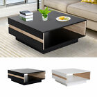 "35"" Modern Rectangle Coffee Table End Desk Storage Shelf Liv"