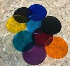 Color Acrylic Disks / Circles  MIRRORED  Assorted sizes and colors